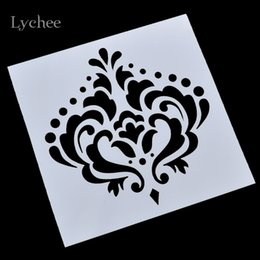 Wholesale crown drawing - Wholesale- Imperial Crown Design Scrapbooking Tool Card DIY Album Masking Spray Painted Template Drawing Stencils Laser Cut Templates