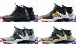 Wholesale Snow Boots Men Zipper - High Quality Air Presto Utility Mid Running Shoes Men Windproof Waterproof Sneakers Boots Zipper Athletic Sports Free Shipping 40-45