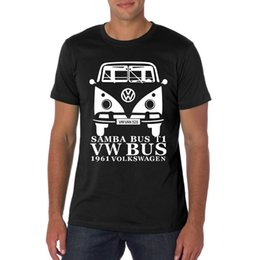 Wholesale Volkswagen Buses - New 2016 Summer Mens T Shirt Volkswagen VW Bus Printed Cotton Short Sleeve Round Neck T-shirt Top Quality Casual Style Tops Tee