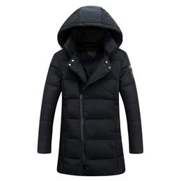 Wholesale Waterproof Overcoat - Wholesale- 2016 New Long Winter Thickwarm Slim Overcoat Warm Waterproof Cotton Filler Thick Winter Coat Mens