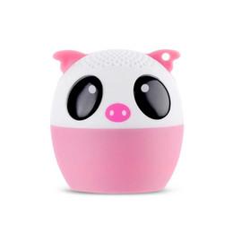 Wholesale Tiger Gifts For Kids - 30pcs Mini Wireless Bluetooth Speaker Cute Animal Cartoon Pig Dog Bear Tiger Panda Pocket Speaker Special Gift For Friend Kid Child
