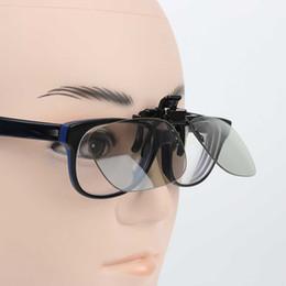 Venda por atacado- Alta qualidade Miopia Clip 3D Óculos fazem os olhos ver 3D efeito filme passiva TV com caixa de óculos cheap seeing glasses wholesale de Fornecedores de vendo óculos por atacado