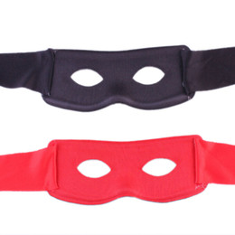maschere di partito zorro Sconti All'ingrosso- Rosso Nero Maschera da party Uomo Donna Villain Joke Bandit Zorro Eye Mask Tema Festa in maschera Costume Halloween Forniture Vendita calda