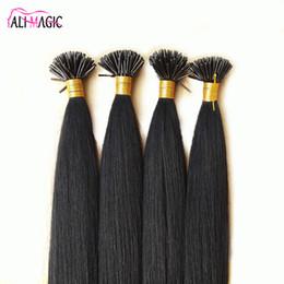 Wholesale Blonde Glue Hair Extensions - Best Unprocessed keratin glue hair extensions 20 22 24INCH nail stick i tip human hair extensions wholesale Fusion Italian Keratin 100g