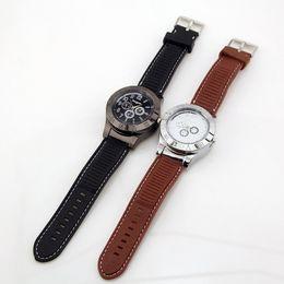 Isqueiros para mulheres on-line-Mulheres / homens Relógios Casuais Relógio de Pulso de Quartzo com USB À Prova de Vento Sem Chama Cigarro Mais Leve para para Masculino / Feminino-P4850