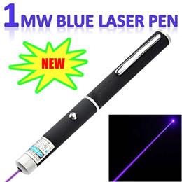 Wholesale Purple Laser Pen - 1mw 405nm Purple-Blue Violet Light Lights Laser Pointer Pen Pens Pointers Lasers Beam SOS Teach Projector Pen Free DHL