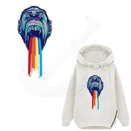 Wholesale Ape Clothing - 2017 NEW patch for clothing Apes 29*13cm T-shirt Dresses Sweater thermal transfer Printed A-level Washable Sticker free shopping