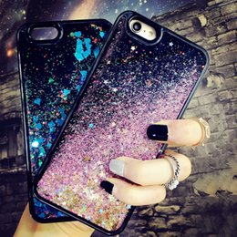 Wholesale Iphone Case Bling Starry - Fashion Glitter Bling Star Case For iphone 7 Case For iphone7 6 6S PLus Phone Cases Luxury Cartoon Starry Sky Back Cover Capa