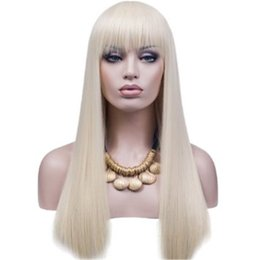 Wholesale Platinum Long Wigs - Full Lace Wgis Of Brazilian Human Hair 100% wig Is Full Of My Shoelaces 60 # Platinum Is Manually Send Long Hair Humanr Sedosas Straight Wig