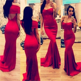 Wholesale Sexy Japanese Models - Free Shipping!Floor-Length Hot Red Mermaid Sexy Evening Dress Sweethert Backless pakistani prom dresses sexy japanese prom dresses