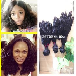 Wholesale Hair Extensions Nigeria - Virgin Funmi Hair Extension Malaysian virgin Aunty Funmi Hair Free Shipping To UK Nigeria Romance Bouncy Curl