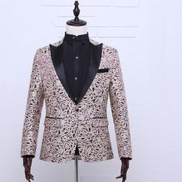 Wholesale Stage Purple Suit - Hot Sale 2016 Beige Purple Long Sleeves European Court suit Wedding Party Singer Solo Stage Performance Costumes