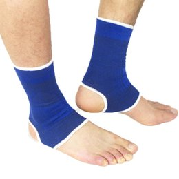 Wholesale Ankle Protection Football - Wholesale- 2017 1 Pair Outdoor Sports Exercise Football Soccer Volleyball Tennis Safety Ankle Support Brace Protection Guard Protector