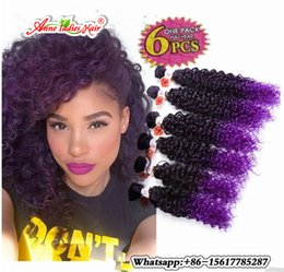 Wholesale Noble Gold Weaves - 6pcs pack Curly synthetic weave bundles Noble Gold Hair Extensions Sew in Weave
