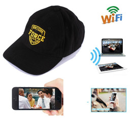 Wholesale Build Hat - 8GB Memory built-in 720P HD Wearable WIFI Camcorder Hat Spy Camera Hidden cap Portable DV Camcoder wireless Wearable IP P2P DVR PQ235