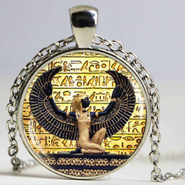 Wholesale Egypt Crystal - Egyptian Goddess Pocket pendant Necklace ancient egypt jewelry Egyptian chokers necklaces for women