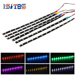 Wholesale Changeable Car - 30CM 12LEDs 5050 Strip Waterproof Ultra Bright Flexible LED Strip 12V Auto Car Daytime Running Decorative 10Pcs Lot