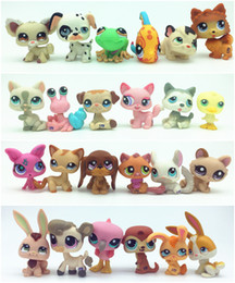 Wholesale Littlest Pet Shop Collection - 10pcs lot Random Littlest Pet Shop Q LPS-Littlest Shop Series Pet Doll Animal Cartoon Cat Dog Action Figures Collection Toys Free Shipping