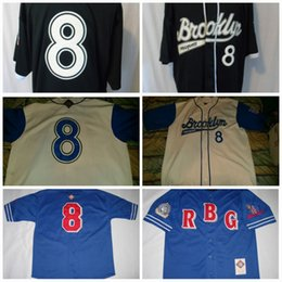 xxl kleid Rabatt Brooklyn-königliche Giants-Jersey-offizielle Kleid-Negro-Liga-Baseball Jerseys 100% der freien Verschiffen-S-3XL Mischungs-Auftrags-Männer der Männer