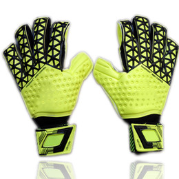 Wholesale Protection Glove Black - 2016 New man soccer gloves finger protection Professional goalkeeper gloves ADS Goal keeper Gloves Soccer Goalie Soccer
