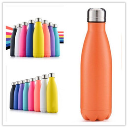 Wholesale Eu Charge Wall - CA USA UK Free 17oz 500ml Cola Shaped Bottle Insulated Double Wall Vacuum high-luminance Water Bottle Creative Thermos bottle Coke cup