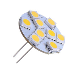 Wholesale G4 Led Back Pins - Wholesale-High Quality Warm White G4 9 LED 5050 SMD Home Car Auto Boat Bulb Lamp Lights Back Pin DC12V