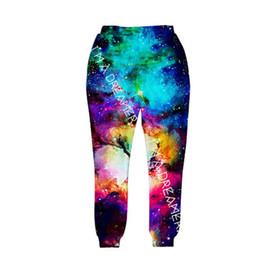 Wholesale Hip Hop Pants For Women - Wholesale-2016 new fashion sweat pants joggers pants 3D graphic print galaxy space sweatpants for men women hip hop trousers