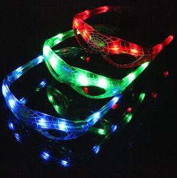 giocattoli maschera spiderman Sconti Spiderman LED Light up Flashing Glow Occhiali Regalo Cheer Dance Mask Natale Regalo di Halloween Novità LED Occhiali Led Rave Toy Party Glasses