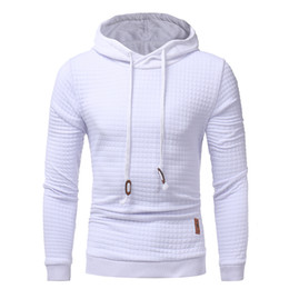 Wholesale men hoodie jumpers - 2017 Mens Winter Hoodies Casual Sweatshirt Hooded Black White Coat Sweats Pullover Jumper Jacket Fashion Gyms Clothing High Quality M-3XL