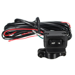 Wholesale Wholesale Winch - Wholesale- 3 Meters ATV UTV Winch Rocker Switch Handlebar Control Line Warn Accessories New