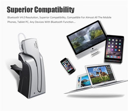 Wholesale Iphone Dock Support - Dacom C-Blue1 Wireless Bluetooth Car Vehicle Earphones Support NFC With Microphone Charger Dock Stereo Handfree Headset for iPhone Samsung