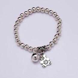 Wholesale bell bear - NEW Bear Bell Charm Bracelet Silver plated beads Bracelet 2016 Women Fashion jewelry