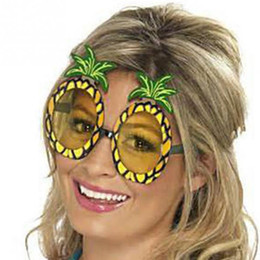 Wholesale Hen Nights - Hot Hawaiian Beach Pineapple Sunglasses Hawaii Party Fruit Glasses Dancing Supplies Hen Night Stag Party Fancy Dress