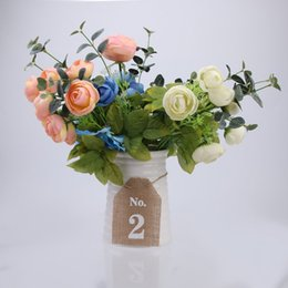 Wholesale Rustic Wedding Table Numbers - Wholesale- Rustic Jute Vintage Wedding Table Numbers 1-10 Vintage Blank Hessian Burlap Bunting Banner Wedding Party Banner