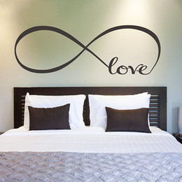Wholesale Arts Symbol - Symbol Of Love Infinite Small Wall Stickers Custom Room Decals Vinyl Love Small Wall Stickers DIY Bedroom Stick On Wall Art