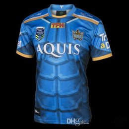 Wholesale Mustang Shirt Xxl - 2017 New Zealand mustang Gold tiger squadron Titans to mens rugby jerseys top quality nines shirts home 17 18 Titan rugby shirts