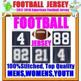 Wholesale Romo Football Jerseys - Cheap American Football Jerseys Dak Prescott Tony Romo Sean Lee Emmitt Smith Taco Charlton Customized Cowboys Men Women Youth Kid Jersey 4XL