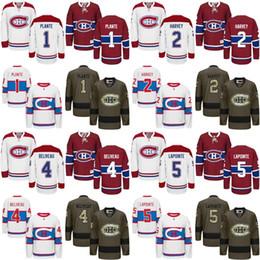 Wholesale Guys Nylon - 2017 men Montreal Canadiens 1 Jacques Plante 2 Doug Harvey 4 Jean Beliveau 5 Guy Lapointe Hockey Jerseys Stitched.