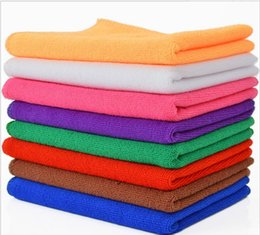 Wholesale Car Microfibre Cloths - 30*30cm Microfiber Car Cleaning Towel Microfibre Car wash Cloth Hand Towel Microfiber Towel Car Dry pad kitchen cleaning towels
