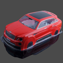 Wholesale Rc Car Body Hsp - RC HSP HPI AX-035 Red PVC Drift Body shell For 1:10 Electric On-Road Drift Car
