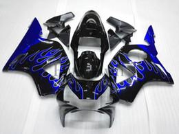 Wholesale Cbr954rr Plastics - ABS Plastic Bodywork For Honda CBR954RR 2002-2003 CBR900 CBR954 RR blue flame Aftermarket Fairing