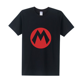 Wholesale Gray Mario - Wholesale- New Summer Super Mario T Shirt Men Cartoon Game T-shirts Men 2016 Fashion Short Sleeve Cotton O-neck Mario Tops Tee OT-286
