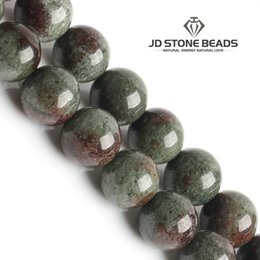 Wholesale Natural Gem Stones Free - free shipping round green ghost crystal beads natural GEM stone beads DIY beads for jewelry making strand wholesale