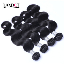 Wholesale cheap human hair extensions wefts - Indian Body Wave Virgin Hair Unprocessed Indian Remy Human Hair Weave Wavy 3 4 Bundles 100g pcs Cheap Human Hair Extensions Double Wefts