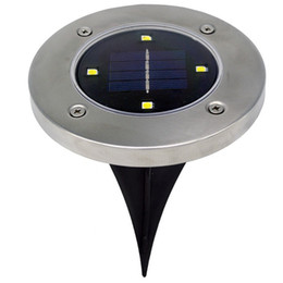 2017 parcours paysager Solar 4 LED Outdoor Path Light Spot Lampe Yard Garden Lawn Landscape IP65 Waterproof Yard Driveway Lawn Pathway Solar Light peu coûteux parcours paysager
