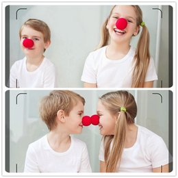 Wholesale Party Fun - 50pcs Fun Red Nose Foam Circus Clown Nose Comic Party Supplies Halloween Accessories Costume Magic Dress Party Supplies