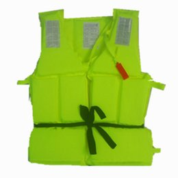 Wholesale Flotation Jackets - Wholesale- 300g Adult Foam Flotation Swimming Life Jacket Vest With Whistle Boating Swimming Safety Life Jacket,Fluorescent green