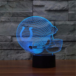 Wholesale Led Visual - Seven Colors Changing Dallas Cowboys Light 3D Visual Led Night Light USB Novelty Dallas Cowboys Table Lamps as Home Decor Besides Lampara