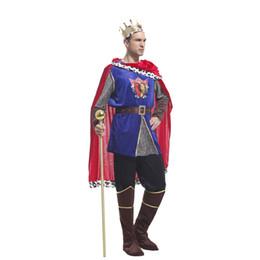 Homens tamanho king vestuário on-line-Xangai história príncipe árabe brilhante rei trajes cosplay homens trajes de halloween masquerade roupas de festa para homem tamanho s m