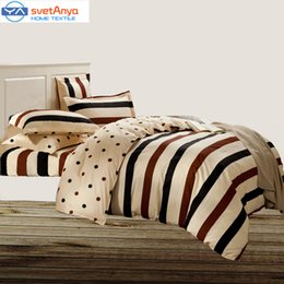 Wholesale Double Set 4pc - Wholesale-Svetanya Cotton bedlinen queen king twin full double size quilt cover bedsheet pillowcase 3 4pc bedding set print Bedsheet